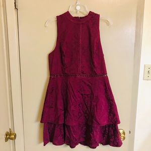 Burgundy lace Xhilaration Dress Size XL
